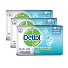 UU Dettol Cool Anti-Bacterial Body Soap 3 x 65g TC