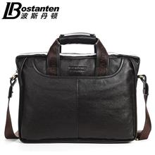 Bostanten Cow Leather Handbag Business Shoulder Briefcase Bag