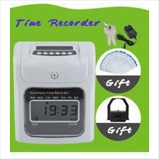 FULLY AUTO TIME RECORDER PUNCH CARD MACHINE ( 2 YEARS WARRANTY )