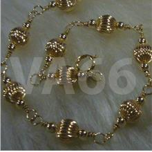 Wire Wrapped 14K Gold Suasa Anklet Gelang Kaki Emas Beads Silver