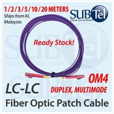 LC-LC OM4 Multi Mode Duplex Fiber Optic Patch Cord Cable LC to LC MM
