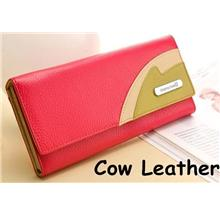 Cow Leather PLAYBOY Women Super Multi Card Slots Wallet Purse