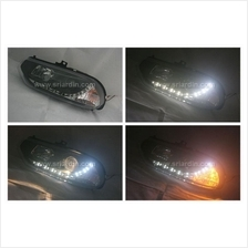 Alfa Romeo 156 98-02 Black Projector Headlamp w LED
