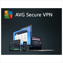 AVG VPN Secure 2021 - 2 Years 1 PC - Windows 7 8 10 Home Pro Software