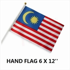 Malaysia Hand Flag Bendera Malaysia 6x12inches(15cm x 30cm) 10pcs