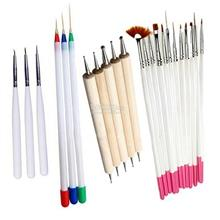 Nail Art Dotting Tool-3D Acrylic-Gel Extension-Brushes Set-Design Draw