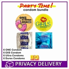 Party Time Condoms Total 24 (6 ONE, 6 Durex, 6 EXS, 6 Ultra)