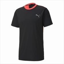 Puma Men's Last Lap Color Block Tee Running Training Shirt 518966-01)