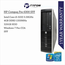 HP Compaq Pro 6300 SFF i3 Desktop PC Computer (Refurbished)