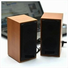 HOT WOODEN MEGA BASS USB 2.0 MULTIMEDIA DIGITAL SPEAKER FOR PC / LAPTO