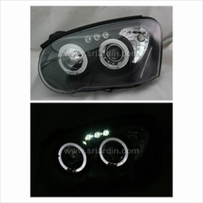 Subaru Impreza 02-04 Black Projector Headlamp w Ring & LED
