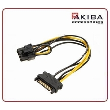 SATA 15pin Male to Male 8pin PCIe Video Card Cable