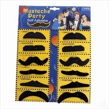 Men's Moustache set 12 patterns/ party/ ready stock