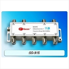 Original Gecen GD-81E 8x1 DiSEqC 1.1 Satellite LNB Switch