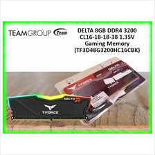 Team Group DELTA 8GB DDR4 3200 CL16-18-18-38 1.35V RGB Gaming Memory (