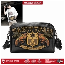 MV Bag Leather Messenger Bag Black Sling Shoulder Beg Sandang Silang