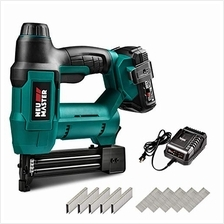 (FROM USA) Cordless Brad Nailer, NEU MASTER NTC0023 Rechargeable Nail Gun/Stap