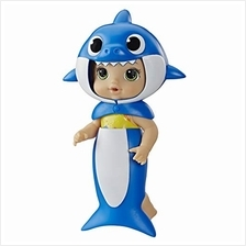 ..// Baby Alive, Baby Shark Brown Hair Doll, with Tail  & Hood, Inspired by Hi