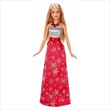 ..// Holiday Barbie 2017 Doll in Snowflake Dress