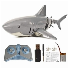 ..// HTZKO Remote Control Shark Simulation Shark Boat 2.4G Pool Bathtub Toy ca