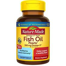 (FROM USA) Nature Made Omega-3†† from Fish Oil 550 mg Softgels, 90 Count f