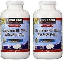 (FROM USA) Kirkland Signature Extra Strength Glucosamine HCI 1500mg, With MSM