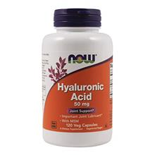 (FROM USA) Now Foods Hyaluronic Acid with MSM, 120 Vcaps (Pack of 3)