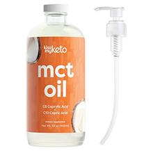 (FROM USA) Kiss My Keto MCT Oil 32 oz — Premium MCT Oil C8  & C10 + Dosing P