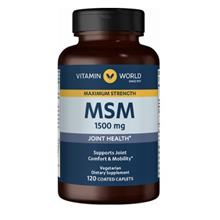 (FROM USA) Vitamin World Maximum Strength MSM 1,500 mg Joint Health Supports J