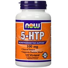 (FROM USA) Now Foods, 5-HTP 100 mg Vegetarian, 240 Capsules (120 x 2 Pk)
