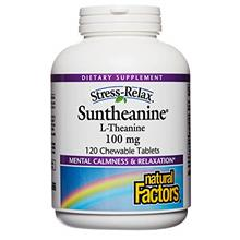(FROM USA) Stress-Relax Chewable Suntheanine L-Theanine 100 mg by Natural Fact