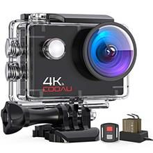[USAmall] COOAU 4K 16MP Wi-Fi Action Camera 40M Waterproof with 2 Batteries -