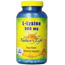 [USAmall] Nature's Life L-Lysine Capsules, 500 Mg, 250 Count