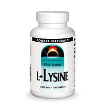 [USAmall] Source Naturals L-Lysine 1000 mg Free Form - Amino Acid Supplement S