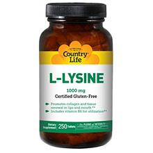 [USAmall] Country Life L-Lysine 1,000mg Essential Amino Acid with Vitamin B6 f