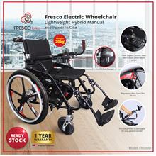 Fresco Electric Wheelchair Lightweight Hybrid Manual and Power in One