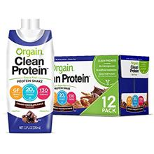 [USAmall] Orgain Grass Fed Clean Protein Shake, Creamy Chocolate Fudge - Meal