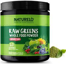 [USAmall] NATURELO Raw Greens Superfood Powder - Unsweetened - Boost Energy, D