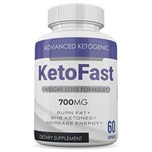 [USAmall] Keto Fast - 700MG - Advanced Ketogenic Formula - BHB Ketones - 60 Ca