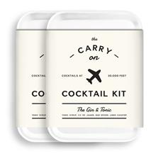 ..// W &P Carry On Cocktail Kit, Gin  & Tonic | Set of 2 | Travel Kit for Drin