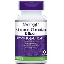 (FROM USA) Natrol Cinnamon Chromium Biotin Tablets, 60 Count