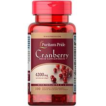 (FROM USA) Puritans Pride Cranberry Fruit Concentrate with C  & E 4200 Mg, 100