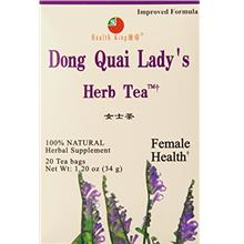 (FROM USA) Health King Dong Quai Lady's Herb Tea, Teabags, 20 Count Box