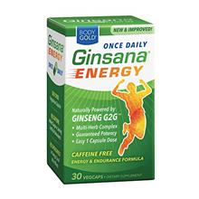 (FROM USA) BodyGold Ginsana Energy, Once Daily | Panax Ginseng Extract w/Energ