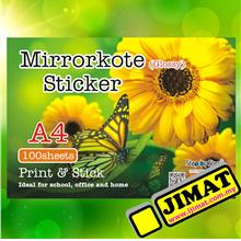 A4 White Simili (Matt) Sticker / Mirrorkote (Glossy) Label 100's