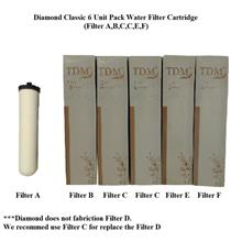 AMGO Diamond Classic Water Filter Cartridge Set (6 Cartridge Set)