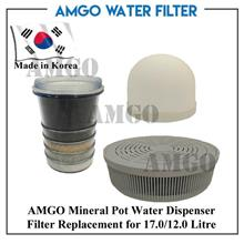 AMGO Mineral Pot Water Dispenser Filter Replacement Cartridge (1 Set)