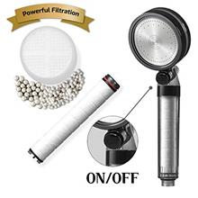 ~ BATHTEM High Pressure Handheld Filter Shower Head with On/Off Button & 2-Wa