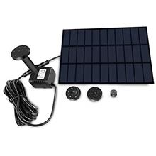 (FROM USA) Sunlitec Solar Fountain with Panel Water Pump for Bird Bath Solar P