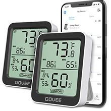 (FROM USA) Govee Temperature Humidity Monitor, 2 Pack Indoor Bluetooth